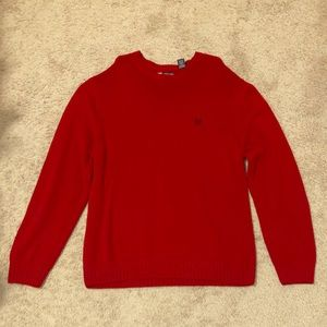 CHAPS red crew sweater